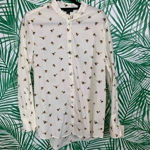 NWT Victoria Beckham bee print shirt L